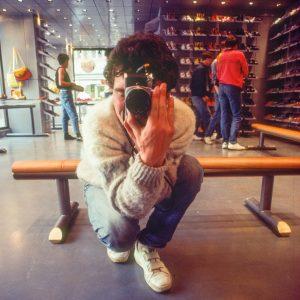 Fotograf Svend Krumnacker 1983 Nikon FE 24mm/2.8 Spiegel