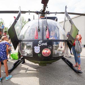 MBB Bo 105 Hubschrauber Eva Tag der Bundeswehr 2019 Fliegerhorst Erding