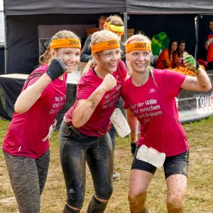 3er Frauen-Team nach Finish Tough Mudder